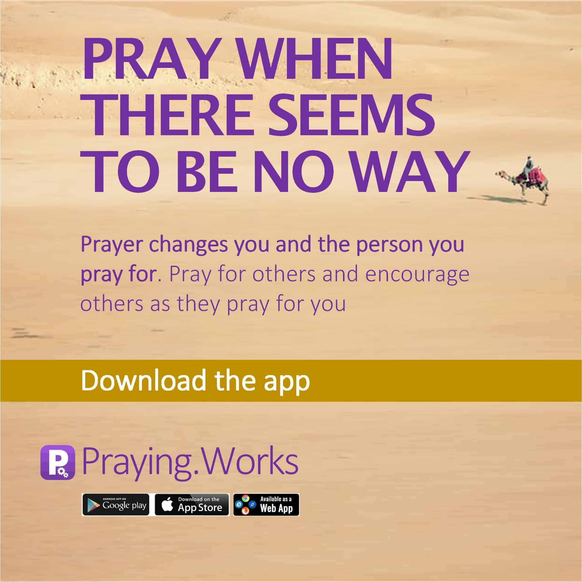 Pray When There Seems to Be No Way